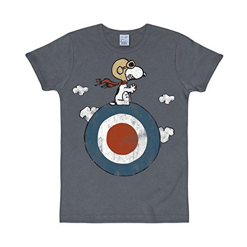 Logoshirt - Camiseta Vintage Hombre Sport Snoopy unisex, Azul (Medium Blue), Small