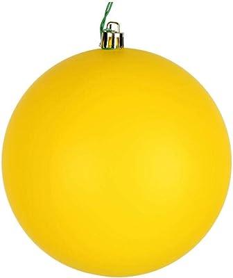 "Vickerman Ball Ornament, 8"", Yellow"