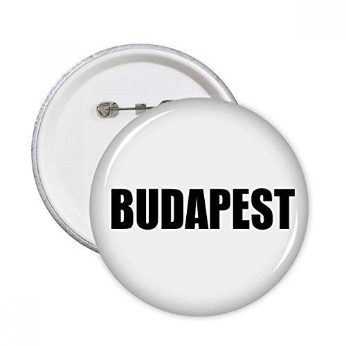 Budapest - Botón insignia nombre ciudad Hungría