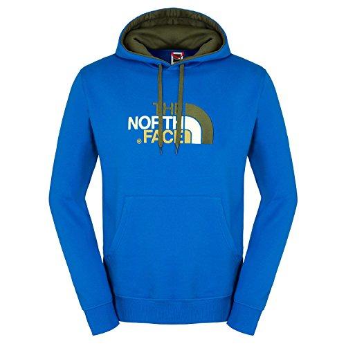 The North Face Drew Peak - Felpa con Cappuccio da Uomo, Uomo, Drew Peak, Snorkel Blue, M