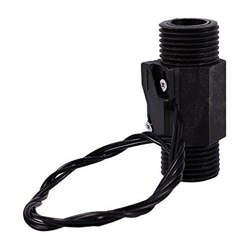 Interruptor de flujo de agua negro Plasti 1pc Sensor de agua vertical / horizontal magnético EFS-04P AC 220V