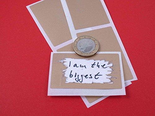 50 Rubbel Etiketten Gold 58x35mm, Scratch Off Label Gold