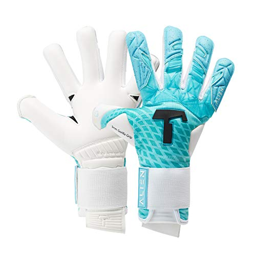 T1TAN Blue Devil Junior Kinder Torwarthandschuhe - Fußballhandschuhe Kinder mit Gorilla Grip - Handschuhe für Kids Gr. 6