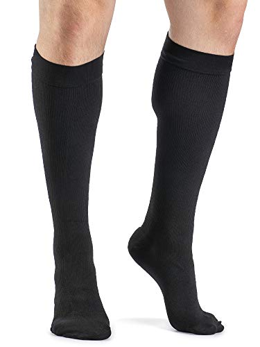 SIGVARIS Men's DYNAVEN Closed Toe Calf-High Socks 30-40mmHg