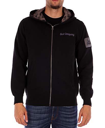 BEST COMPANY schwarzes Sweatshirt durchgehendem Reißverschluss Hoodie L