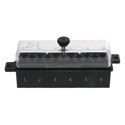 MagiDeal Voiture Circuit Boîte Porte à Fusible Box Lame 12V-32V ATC ATO pour Bateau Voiture - 6way