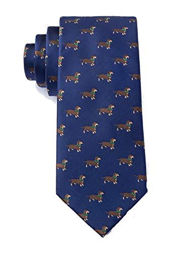 Herren Weenie Dackel Hot Wiener Hund Tier Neuheit Skinny Schmale Krawatte Krawatte - Blau - Einheitsgröße