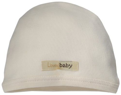 L'ovedbaby Unisex-Baby Newborn Organic Cute Cap, Beige, 0/3 Months