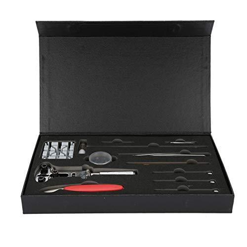 Herramienta de reparación de relojes - Juego de herramientas de reparación de relojes Correa de cambio de batería Cambio de tamaño Abridor de caja trasera