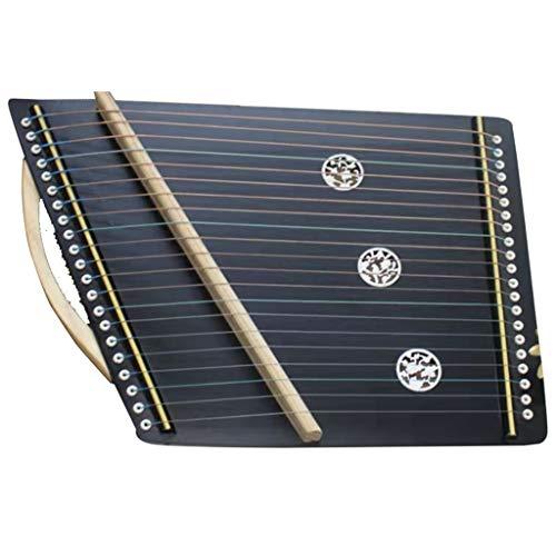 SXQ Guzheng Exerciser tragbare Mini-Gu Zheng Finger Trainer mit Voll Zubehör/Rucksack, Geeignet for Professional/Erwachsene/Anfänger/Kinder 52 * 34 cm 21 Streicher (Color : A)
