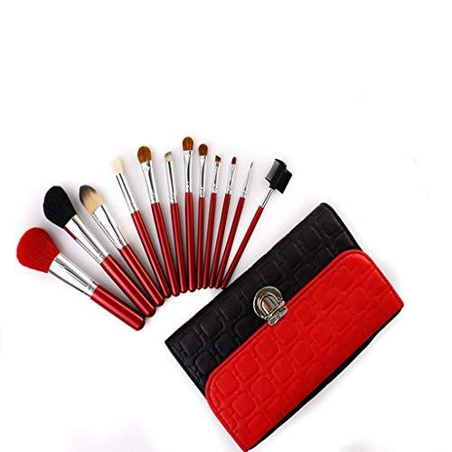 Pinceaux de maquillage de qualité professionnelle essentiels, ensemble de pinceaux de maquillage Beauty Girl, fond de teint synthétique de qualité supérieure de Kabuki, mélange de fard à paupières pou