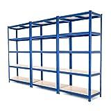 Estantería de acero muy resistente, estantería de garaje para organizar...