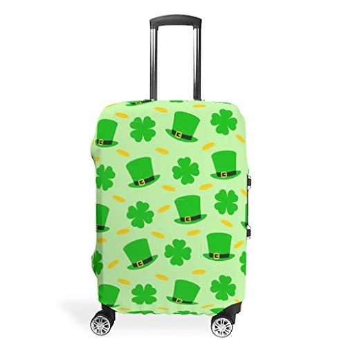 Fundas para maletas de viaje del día de San Patricio – Spandex Multi Tamaño Traje Muchos Maletas, White (Blanco) - STELULI-XLXT-24