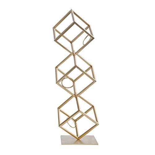 2 Layer / 3 Schicht Weinträger Frei Stehend Metall Weinkabinett Dekoration Modern Home Wohnzimmer Fernkabinett Handwerk Lagerung Kreatives Gold (Color : 3 Layers)