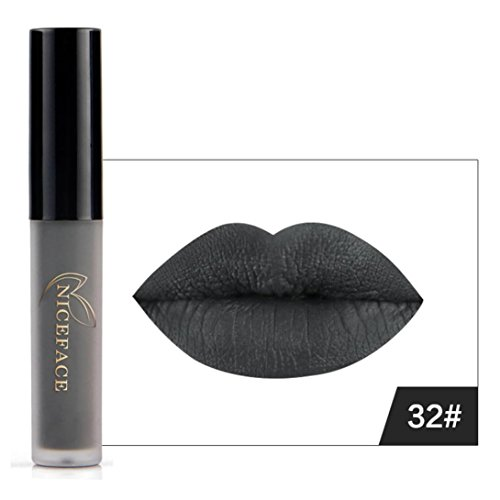 8 Colores Profesional Pintalabios Mate Labial de Maquillaje Larga Duracion para Niñas por ESAILQ F