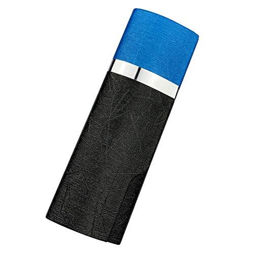 プルームテック プラス ケース (ブラック×ブルー) PloomTech Plus カバー スリム シンプル 無地 コンパクト キャリングケース