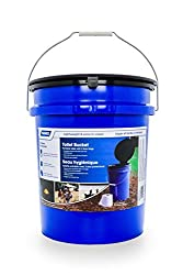 professional Camco Portable Toilet with Bucket, Seat and Lid – Holds 5 Gallons, Lightweight and Easy …