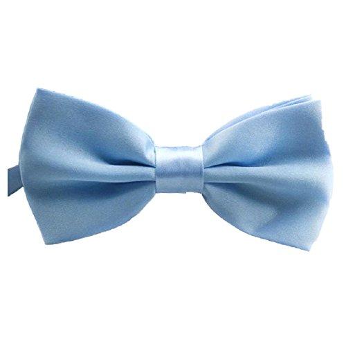 SODIAL(R) reglable Cravate La Nouveaute De La Mode Classic Mens Reglable Mariage De oking Cravate Noeud Papillon Bleu Ciel