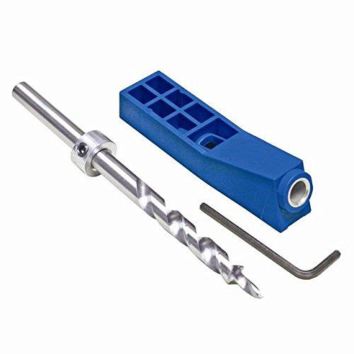 Katsu 105412 Taschenlochlehre Mini Kit Maschinensystem mit Stufenbohrer und Tiefenkragen