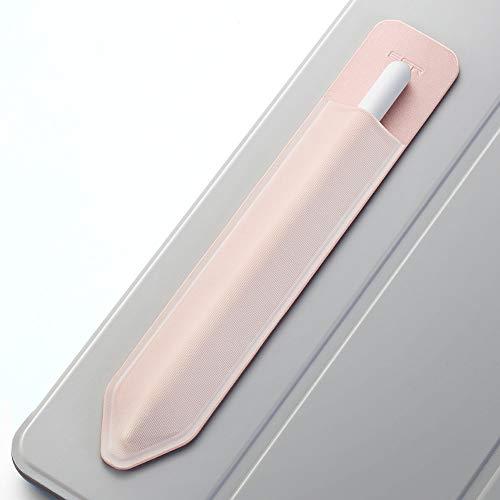 ESR Pencil Case kompatibel mit dem Apple Pencil (1. und 2. Generation) - Elastische Pencil Halter für Stylus Pen [sicherer Pencil Schutz] - Pencil Hülle mit Selbstklebender Rückseite - Roségold