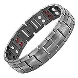 Willis Judd Mens Titanium Magnetic Bracelet Adjustable in Gift Box