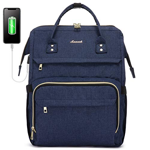 LOVEVOOK Laptop Backpack(17-Inch), Womens Laptop Bag Large Backpack Purse School Backpack Bookbag, Navy