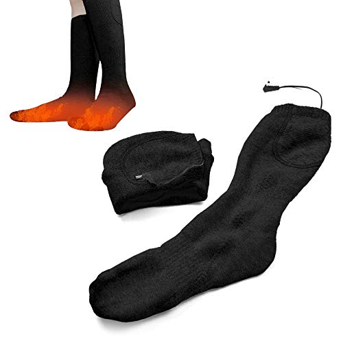 Lixada - Calcetines calefactables a pilas, recargables eléctricas, calientes de invierno