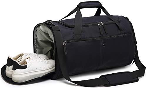 Bolsa de Deporte para Gimnasio, 40 L, con Compartimento para Zapatos, Impermeable, Mochila para Equipaje para Hombres y Mujeres
