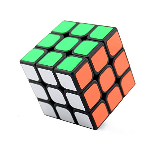 Wings of wind–3x 3x 3Ultra-Smooth Magic Puzzle Cubo Multicolor Sticker Cube (Negro), Guanlong