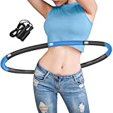 Gkodeamig Hula Hoops for Adults - Weighted Hoola Hoops With Jump Rope for Exercise, Professional Hoola Hoops...