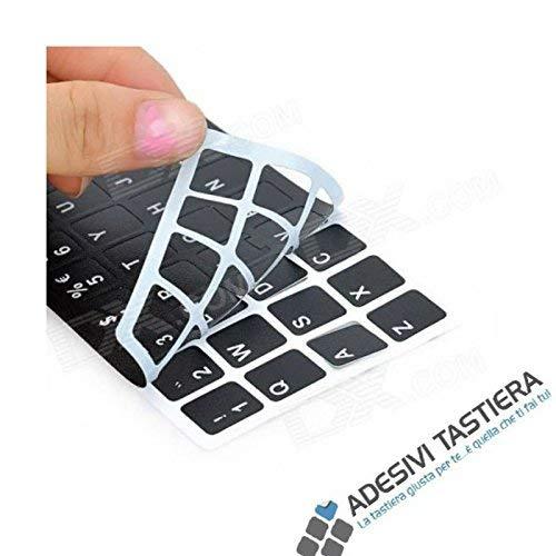 AdesiviTastiera.it - Adesivi lettere tastiera Italiano fondo nero lettere bianche