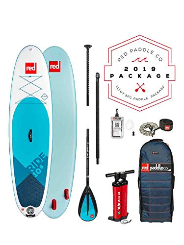 Red Paddle Co 2018 Ride 10'6 Inflatable Stand Up Paddle Board +...