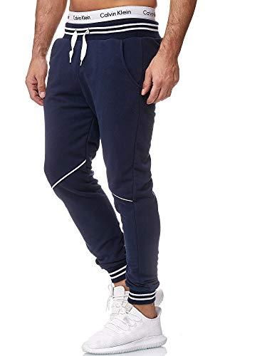 Code47 - Pantalones de Deporte para Hombre Azul Marino M