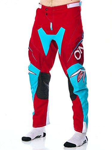 O'Neal 0130-328 Mayhem Lite - Pantalón de bloquera, Color Rojo y Verde Azulado 28, Hombre