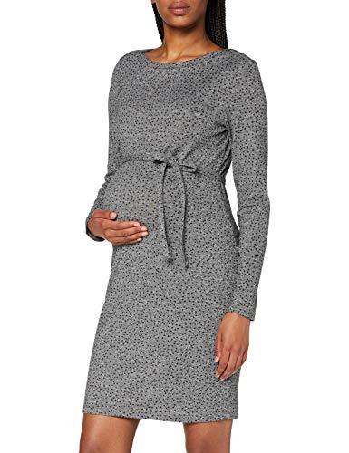Supermom Damen Dress ls Dotted Kleid, Grey Melange-P628, XL