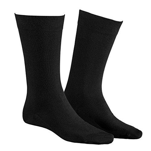 Hudson - Relax Cotton 004400 - Herren Socken - 3er-Pack (45-46 Schwarz)