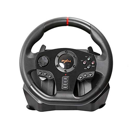 Volant avec pédales et Gearshift Pagaies for PS4, PS3, X360, Switch (Compatible avec Tous Les Jeux de Course) ZHNGHENG