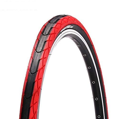 """Bike Tires, 26 x 1.5 Commuter/Urban/Cruiser/Hybrid Bicycle Tires Road MTB Bike Tyre Wire Beads Solid Bike Tires for Bicycle (Color : Red, Wheel Size : 26"""")"""