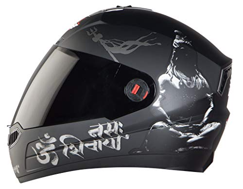 Steelbird SBA-1 Mahadev Full Face Helmet in Matt Finish with Smoke Visor...