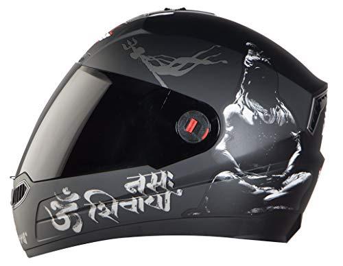 Steelbird SBA-1 Mahadev Full Face Helmet in Matt Finish with Smoke Visor...