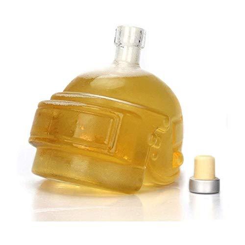 HLR Vasos de Whisky Jarra de Whisky Vino De La Jarra De Cristal Garrafa De Cristal Único Casco Diseño Jarra del Vino De La Botella del Whisky, Vodka, Vino Accesorios Regalo Barra De Herramientas