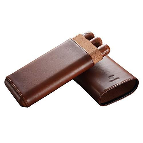 Rangements Boîte À Cigares Humidificateur Portatif Boîte À Cigares En Cèdre Boîte De Rangement Pour Cigares Etui En Cuir Hydratant (Color : Brown, Size : 18.5 * 8.5 * 3.5cm)