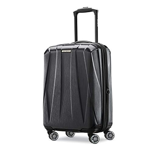 Samsonite Centric 2 Hardside Expandable Luggage with Spinner Wheels, Black, Carry-On 20-Inch