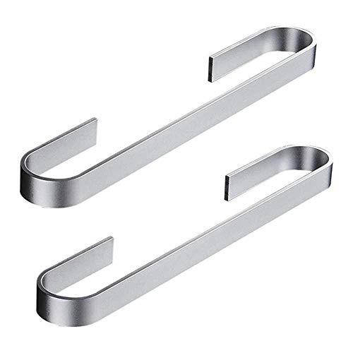 Luckly Toallero Autoadhesivo de Aluminio Toallero Barra Fija Sin Taladro, Porta Toallas Baño 40 cm, Toallero de Barra Organizador Autoadhesivo sin Perforaciones Negro (2 Pcs)