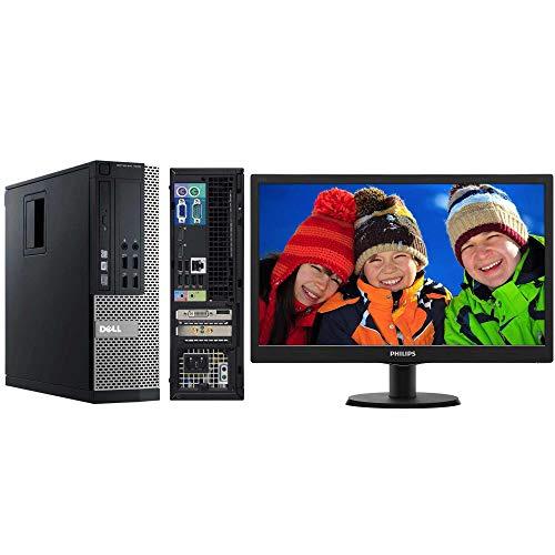 Estación completa Dell 7010 SFF Intel Core I53470 8 GB 240 GB SSD + Monitor Philips 203 V (Reacondicionado Certificado)
