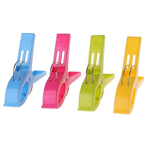 Sunbed Pegs - Pinzas para toallas de playa, 4 unidades, 11,3 cm, varios colores