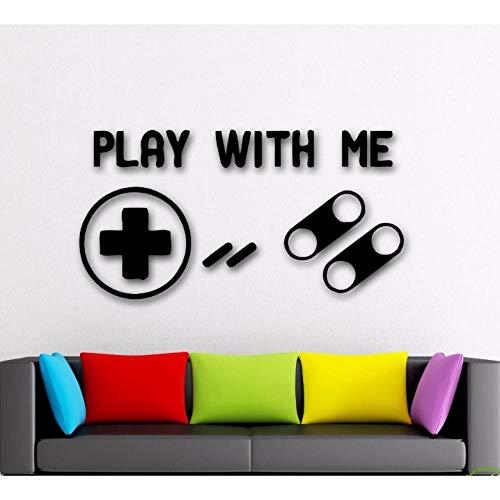 Lznxzq Decalques Em Parede De Jogos De Vídeo Jogar Gamer Adesivo De Parede Decoração Do Quarto De Crianças Jogos De Joystick De Vinil Decalque Em Parede Crianças Brincando De Arte Na Parede