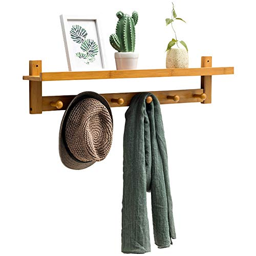 Anmy Coat Rack Hanger With Hook Wall-mounted Garment Rack For Living Room Bedroom Bathroom And Kitchen Storage for Foyer Office Closet (Color : B, Size : 72x11x18cm)