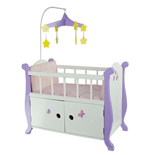 Olivia's Little World TD-0206A Holz Babyzimmer Puppenbett, Weiß