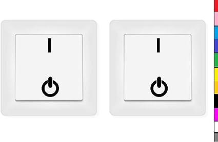 Generisch 2x Schalter Aufkleber Ein Aus On Off Aufkleber Schalteraufkleber Schalter 246 4 7 Dunkelgrau Matt Auto